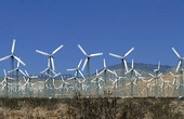 Vindkraftverk i Kalifornien, USA