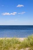 Strand vid havet en sommardag