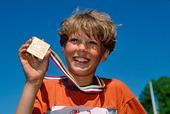 Pojke som sprungit Lilla Göteborgsvarvet