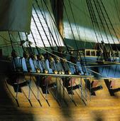 Modell av segelfartyg