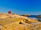 Sjöbod på klippor, Bohuslän