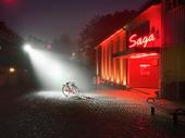 Cykel utanför biografen Saga