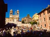 Spanska trappan i Rom, Italien
