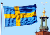 Stockholm och den svenska flaggan