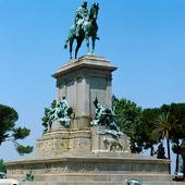 Staty av Garibaldo i Rom, Italien