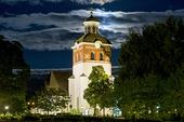 Bollnäs kyrka i fullmåne, Hälsingland