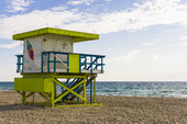 Badvaktsbyggnad vid South Beach Maimi, USA