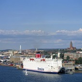 Färja i Göteborgs hamn
