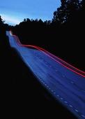 Kvällstrafik på landsväg