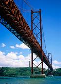 Lisbon Bridge i Lissabon, Portugal