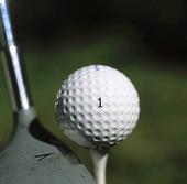 Peggad golfboll
