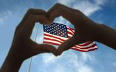 Hjärttecken på USAs flagga