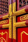 Dörr detalj i Confucius Temple. Peking. Kina