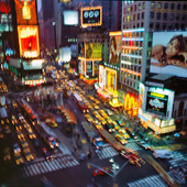 Trafikerad gata i New York, USA
