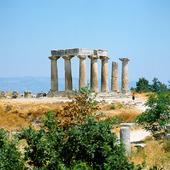 Tempelruiner i Korint, Grekland