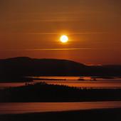 Solnedgång, Jämtland