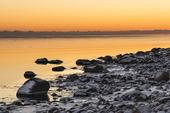 Vinterkväll på klapperstensstrand