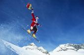 Jultomte på snowboard