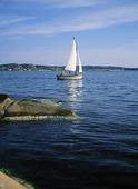 Segelbåt i Göteborgs skärgård