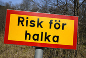 Varning för halka