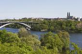 Stockholm med Västerbron och Södermalm