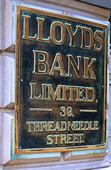 Bank i London, Storbritannien