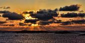 Svart solnedgång