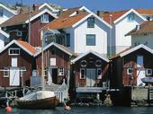 Sjöbodar i Hälleviksstrand, Bohuslän