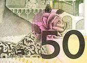 Detalj av 50-kronors sedel