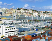 Hamnen i Lissabon, Portugal
