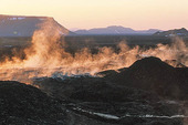 Svart lava, Island