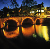 Canal in Amsterdam. Netherlands