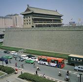 Stadsmuren runt gamla Xian, Kina