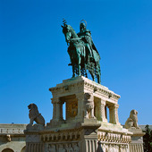 Statue of King Stephen in Budapest, Hungary