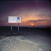 Solnedgång vid Skagens nordspets, Danmark