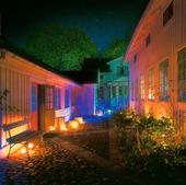 Belysning på innergård
