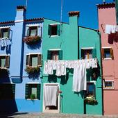 Burano vid Venedig, Italien
