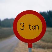 Vägskylt - 3 ton