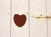 Hjärta på utedass