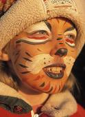 Tigermålad flicka