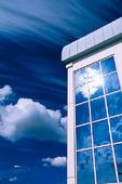 Solreflex i fönster