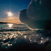 Isblock i solen