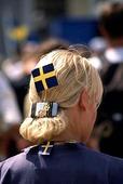 Svensk flagga i håret