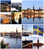 Collage över Stockholms stad
