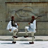 Högvakten vid Slottet i Aten, Grekland