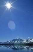 Solen i Autajaure, Lappland