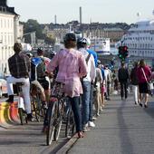 Cyklister i Stockholm