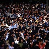 Folkmassa i Tokyo, Japan