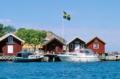 Sjöbodar på Lilla Tjörnekalv, Bohuslän