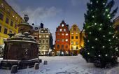 Julstämning på Stortorget, Stockholm